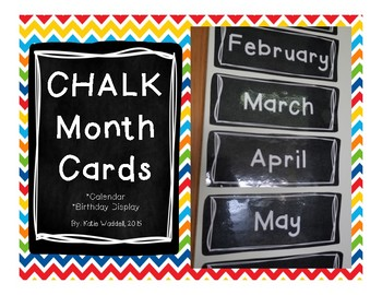 CHALK Month Cards