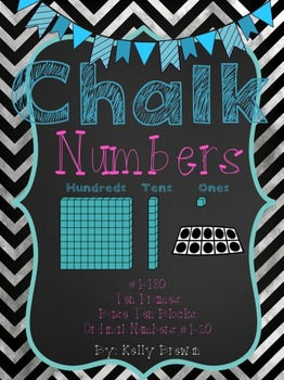[CHALK] Number Line #1-180 {Base Ten & Ten Frames}