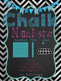 [CHALK] Number Line #1-180 {Base Ten & Ten Frames}