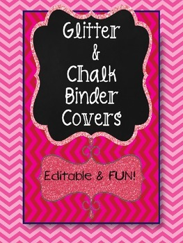 CHALK and GLITTER BINDER OR PRODUCT COVERS