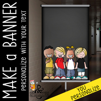 CHALK {melonheadz} - CREATE a BANNER / personalize with your text