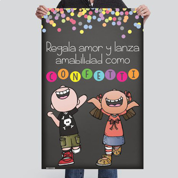 CHALK {melonheadz} - SPANISH version - MED BANNER, Throw KINDNESS like confetti