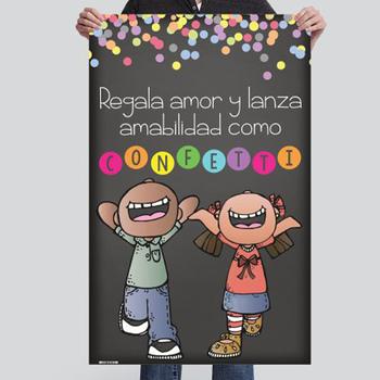 CHALK {melonheadz} - SPANISH version - MED BANNER, Throw KINDNESS like confetti