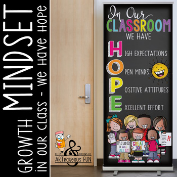 CHALK {melonheadz} - growth MINDSET - LARGE BANNER, In Our Classroom - HOPE