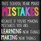 CHALK {melonheadz} - growth MINDSET - LG BANNER, This School Year Make Mistakes