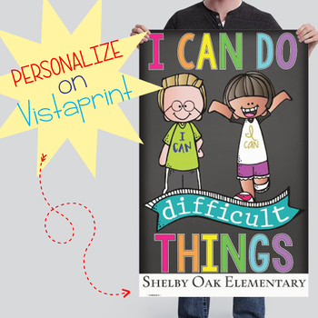CHALK {melonheadz} - growth MINDSET - MED BANNER, I can do difficult things