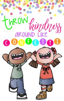 CHALK {melonheadz} - growth MINDSET - MED BANNER, Throw KINDNESS like confetti