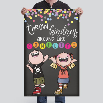 CHALK {melonheadz} - growth MINDSET - MED BANNER, Throw KINDNESS like confetti