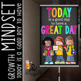 CHALK {melonheadz} - growth MINDSET - MED BANNER,  Today I