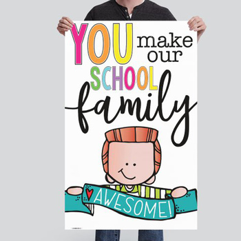 CHALK {melonheadz} - growth MINDSET - MED BANNER, You make our school AWESOME