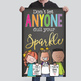 CHALK {melonheadz} - growth MINDSET - MED BANNER,  ... anyone dull your SPARKLE