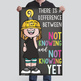 CHALK {melonheadz} - growth MINDSET - MED BANNER,  difference... not knowing YET