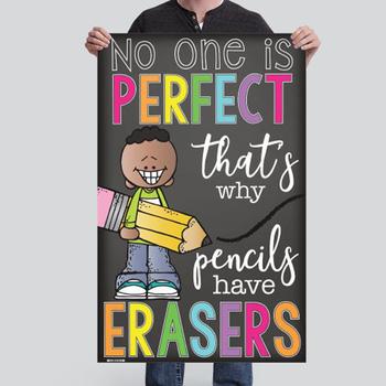CHALK {melonheadz} - growth MINDSET - MED BANNER,  why pencils have erasers