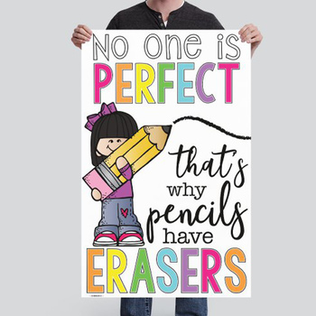 CHALK {melonheadz} - growth MINDSET - MED BANNER,  why pencils have erasers