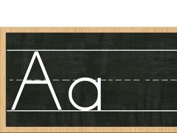 CHALKBOARD Alphabet Strip