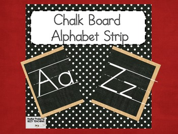 CHALKBOARD Alphabet Strip
