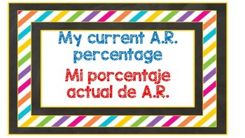 CHALKBOARD BRIGHT AR percentage tracker ENG and SPANISH DUAL