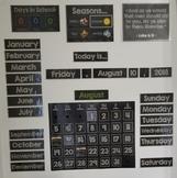 CHALKBOARD CALENDAR WALL SUPPLIES (so many options) Homesc