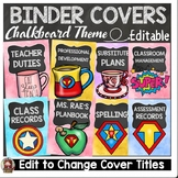 CHALKBOARD CLASS DECOR: EDITABLE BINDER COVERS