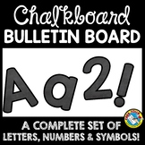 CHALKBOARD CLASSROOM DECOR THEME BULLETIN BOARD LETTERS PRINTABLE