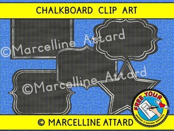 CHALKBOARD CLIPART FRAMES (CHALKBOARD FRAMES CLIPART)
