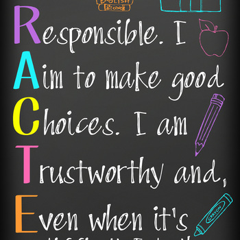 CHALK - Classroom Decor: LARGE BANNER, I have CHARACTER - BRIGHTS