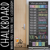 pastel CHALK - Classroom Decor: LARGE BANNER, When You Ent