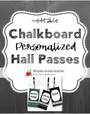 CHALKBOARD Hall Passes Lanyards {EDITABLE}