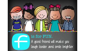 bright CHALK {melonheadz} - Classroom Decor: LARGE BANNER, Are You A Good Friend
