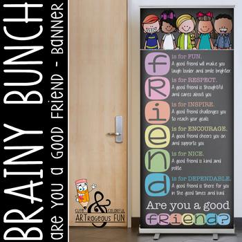 pastel CHALK {melonheadz} - Classroom Decor: LARGE BANNER, FRIEND