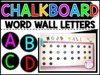 CHALKBOARD RAINBOW WORD WALL LETTERS