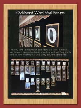CHALKBOARD Sight Word Wall Alphabet K 1 2 BACK TO SCHOOL