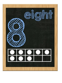 CHALKBOARD - Ten Frame Number Posters