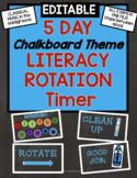 CHALKBOARD Theme 5-Day Literacy Center Rotation Timer