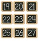 CHALKBOARD Theme Numbers for Mailboxes or Lockers Etc.