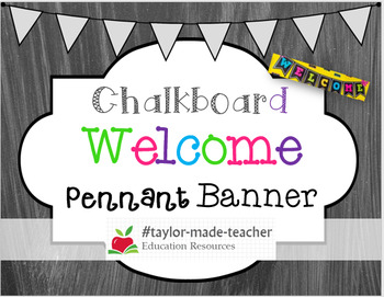 CHALKBOARD Welcome Banner with Bright Colors