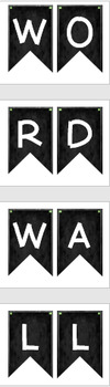 CHALKBOARD Word Wall Letters + Banner