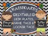 CHALKBOARDS  & KIDS {EDITABLE} NAMEPLATES, LOCKER TAGS, LABELS
