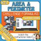 CHALLENGE Area and Perimeter Formulas Google Slides or Forms Distance Learning