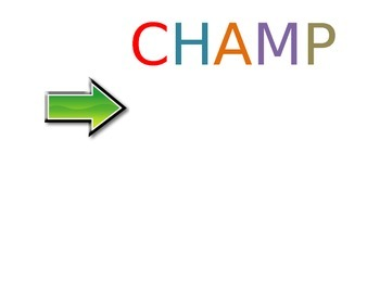 CHAMP Behavior Chart