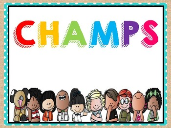CHAMP classroom management clip chart
