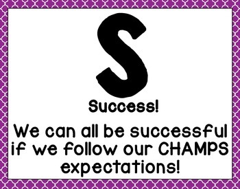 CHAMPS Activity Expectations Clip Chart