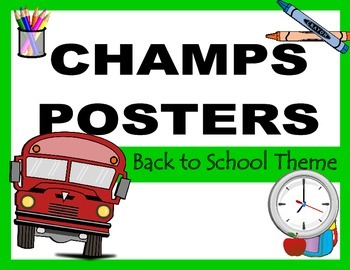 CHAMPS Posters Back to School Theme 1