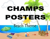 CHAMPS Posters Beach Theme