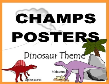 CHAMPS Posters Dinosaur Theme