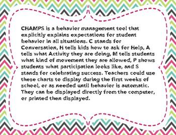 CHAMPS Behavior Charts