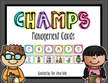 CHAMPS Management Cards