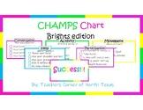 CHAMPS Behavior Management Chart - Brights Edition