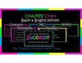 CHAMPS Behavior Management Chart - Black & Brights Edition