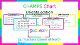 EDITABLE CHAMPS Behavior Management Chart - Brights Edition